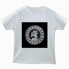 Pattern Motif Decor Kids White T Shirts