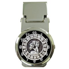 Pattern Motif Decor Money Clip Watches
