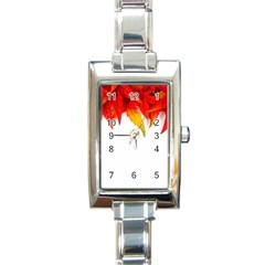 Abstract Autumn Background Bright Rectangle Italian Charm Watch