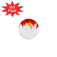 Abstract Autumn Background Bright 1  Mini Buttons (100 pack)