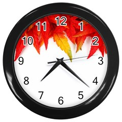 Abstract Autumn Background Bright Wall Clocks (Black)
