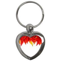 Abstract Autumn Background Bright Key Chains (Heart)