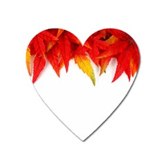 Abstract Autumn Background Bright Heart Magnet