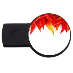 Abstract Autumn Background Bright USB Flash Drive Round (1 GB)