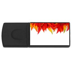 Abstract Autumn Background Bright USB Flash Drive Rectangular (1 GB)