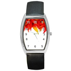Abstract Autumn Background Bright Barrel Style Metal Watch