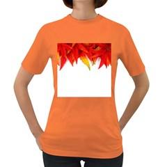 Abstract Autumn Background Bright Women s Dark T-Shirt