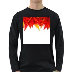 Abstract Autumn Background Bright Long Sleeve Dark T-Shirts