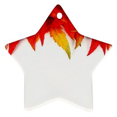 Abstract Autumn Background Bright Star Ornament (Two Sides)