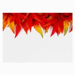 Abstract Autumn Background Bright Large Glasses Cloth (2 Side)