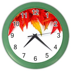 Abstract Autumn Background Bright Color Wall Clocks