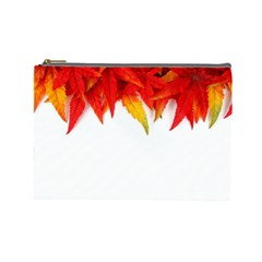 Abstract Autumn Background Bright Cosmetic Bag (Large)