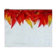 Abstract Autumn Background Bright Cosmetic Bag (xl)