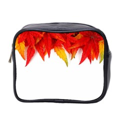 Abstract Autumn Background Bright Mini Toiletries Bag 2-Side