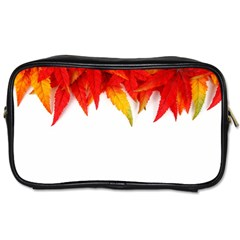 Abstract Autumn Background Bright Toiletries Bags 2 Side