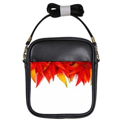 Abstract Autumn Background Bright Girls Sling Bags