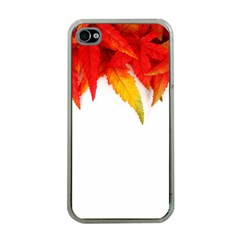 Abstract Autumn Background Bright Apple Iphone 4 Case (clear)