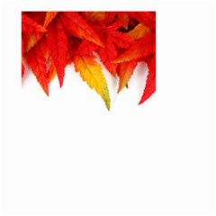 Abstract Autumn Background Bright Small Garden Flag (two Sides)
