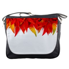 Abstract Autumn Background Bright Messenger Bags