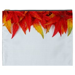 Abstract Autumn Background Bright Cosmetic Bag (XXXL)