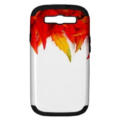 Abstract Autumn Background Bright Samsung Galaxy S Iii Hardshell Case (pc+silicone)