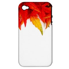 Abstract Autumn Background Bright Apple Iphone 4/4s Hardshell Case (pc+silicone)