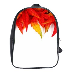 Abstract Autumn Background Bright School Bags (xl)