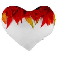 Abstract Autumn Background Bright Large 19  Premium Heart Shape Cushions