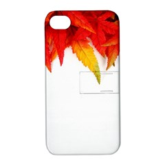 Abstract Autumn Background Bright Apple Iphone 4/4s Hardshell Case With Stand