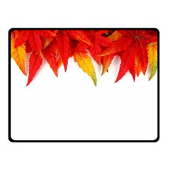 Abstract Autumn Background Bright Double Sided Fleece Blanket (small)