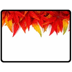Abstract Autumn Background Bright Double Sided Fleece Blanket (large)