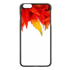 Abstract Autumn Background Bright Apple iPhone 6 Plus/6S Plus Black Enamel Case