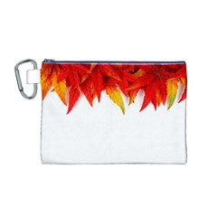 Abstract Autumn Background Bright Canvas Cosmetic Bag (m)