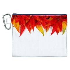 Abstract Autumn Background Bright Canvas Cosmetic Bag (xxl)