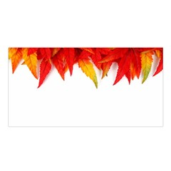 Abstract Autumn Background Bright Satin Shawl