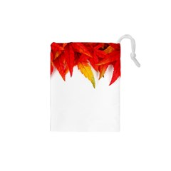 Abstract Autumn Background Bright Drawstring Pouches (XS)