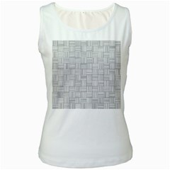 Flooring Household Pattern Women s White Tank Top