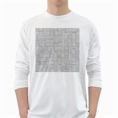 Flooring Household Pattern White Long Sleeve T-Shirts