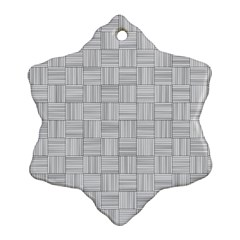 Flooring Household Pattern Snowflake Ornament (Two Sides)