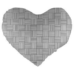 Flooring Household Pattern Large 19  Premium Heart Shape Cushions