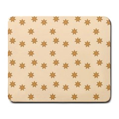 Pattern Gingerbread Star Large Mousepads