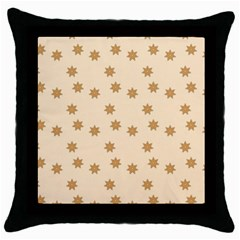 Pattern Gingerbread Star Throw Pillow Case (Black)