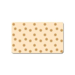 Pattern Gingerbread Star Magnet (name Card)