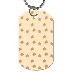 Pattern Gingerbread Star Dog Tag (Two Sides)