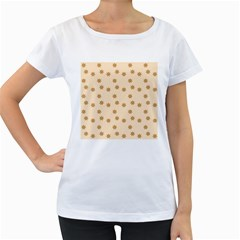 Pattern Gingerbread Star Women s Loose Fit T Shirt (white)