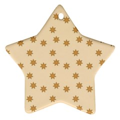 Pattern Gingerbread Star Star Ornament (two Sides)