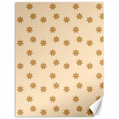 Pattern Gingerbread Star Canvas 12  X 16