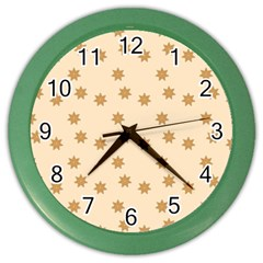 Pattern Gingerbread Star Color Wall Clocks