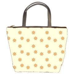 Pattern Gingerbread Star Bucket Bags