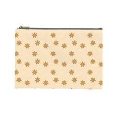 Pattern Gingerbread Star Cosmetic Bag (Large)